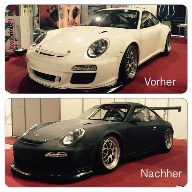 Vollfolierung (CarWrapping) Porsche Carrera