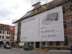 Gerüstbanner im Digitaldruck 12x5 m