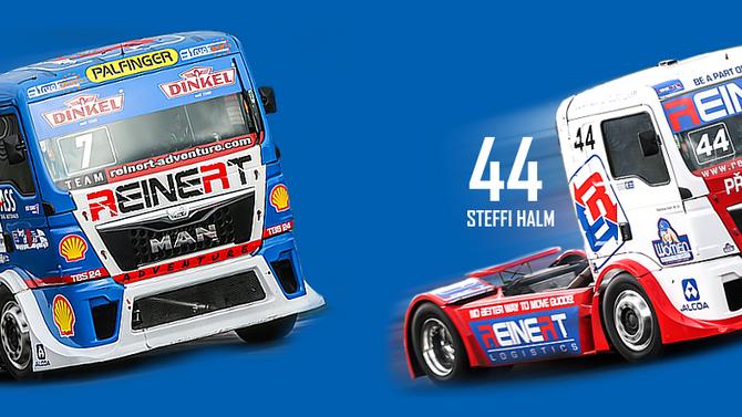 Truckbeschriftung für das Reinert-Racing Team FIA Europameisterschaft 2015/16