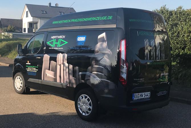 Beschriftung von 3 Transportern der Fa. Hertweck in Baden Baden
