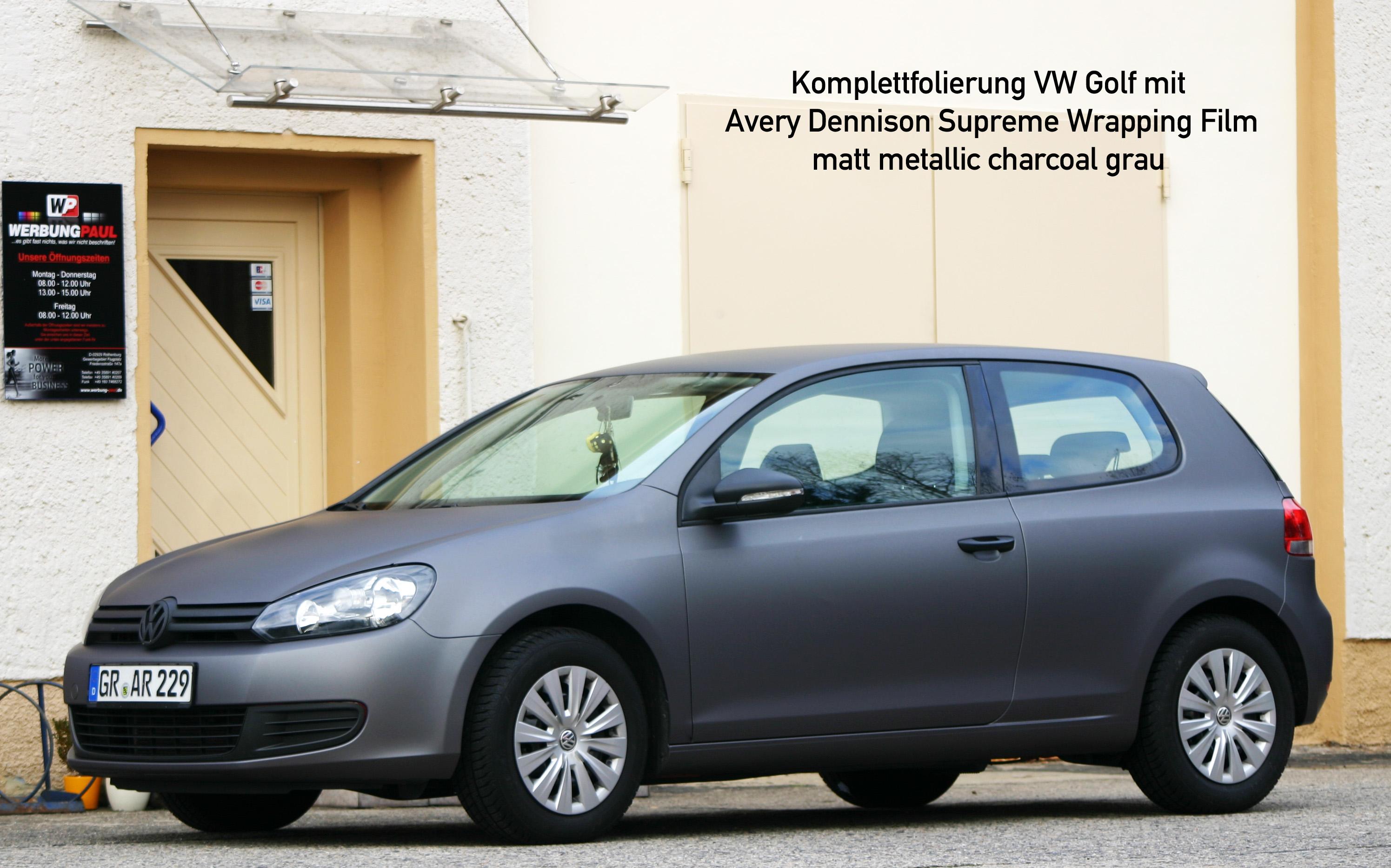 Vollfolierung VW Golf