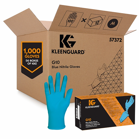 Kleenguard (Kimberly-Clark) Nitrile Gloves-Arctic Blue(Pack of 10Box)