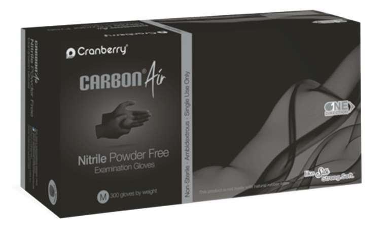 Cranberry Nitrile Gloves- Carbon Air(Pack of 300Pcs)