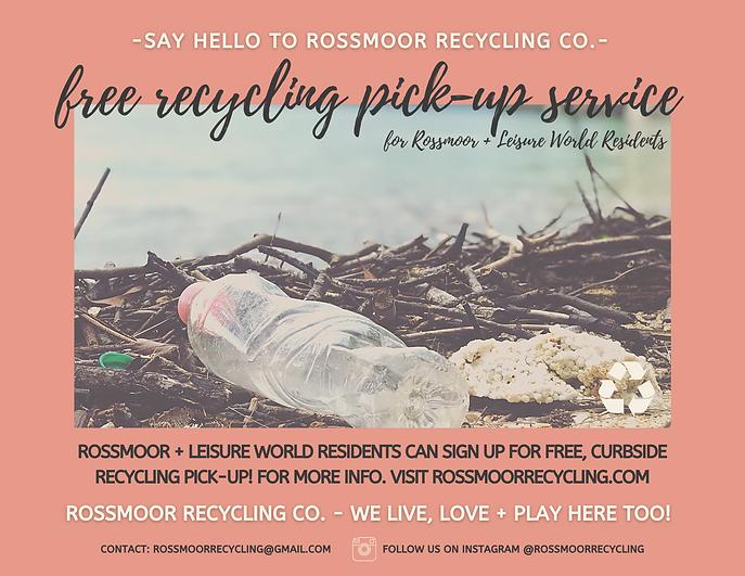 Rossmoor Recycling Flyer