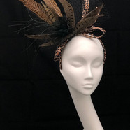 Brown Feather Fascinator
