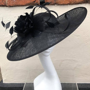 Black Feather Hat