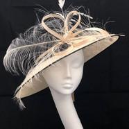 Cream & Black Hat