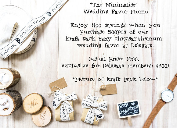 The Minimalist Wedding Favor ($1.60 for 500pcs and above)