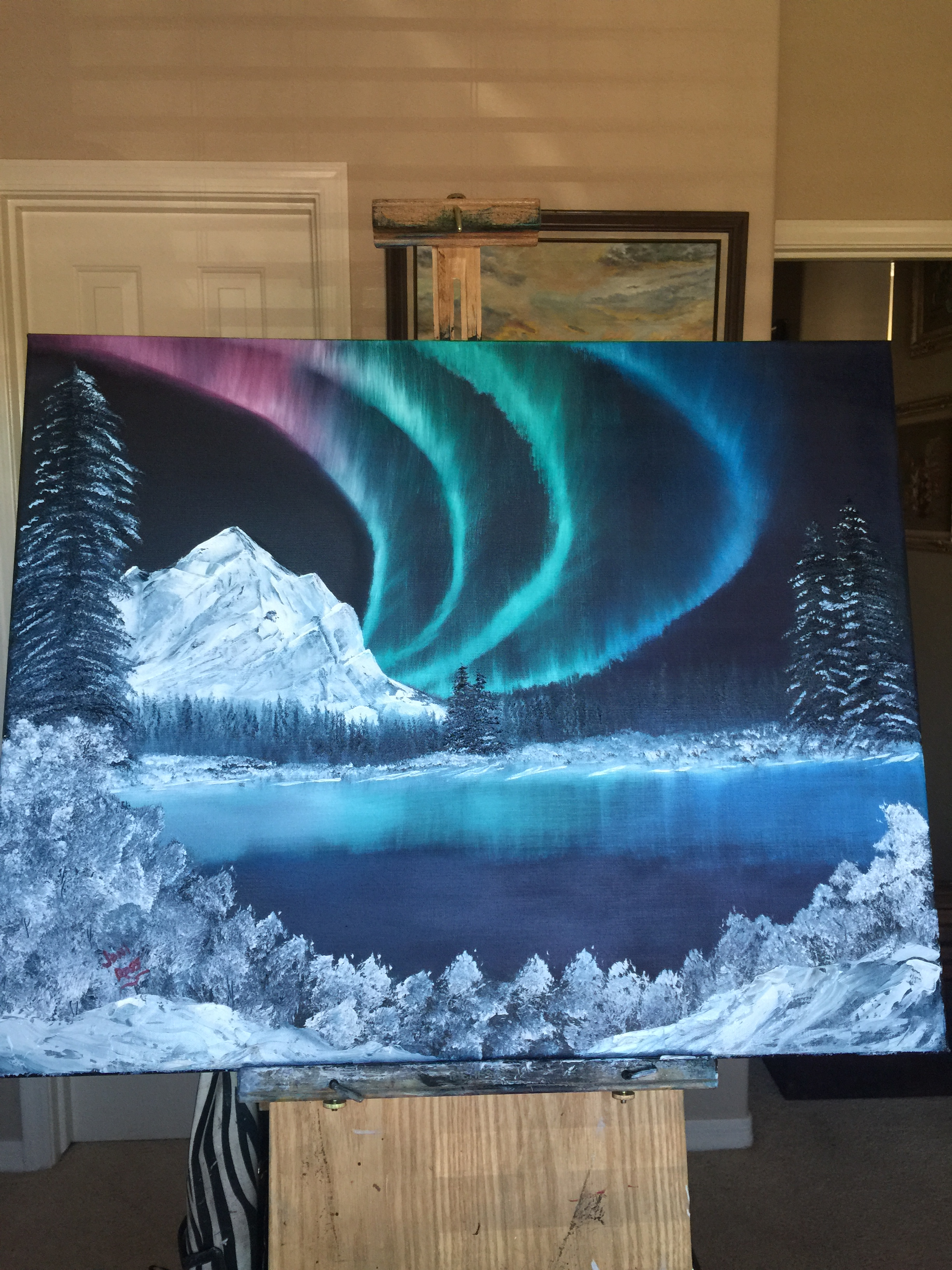 Northern Ligths oil24x30