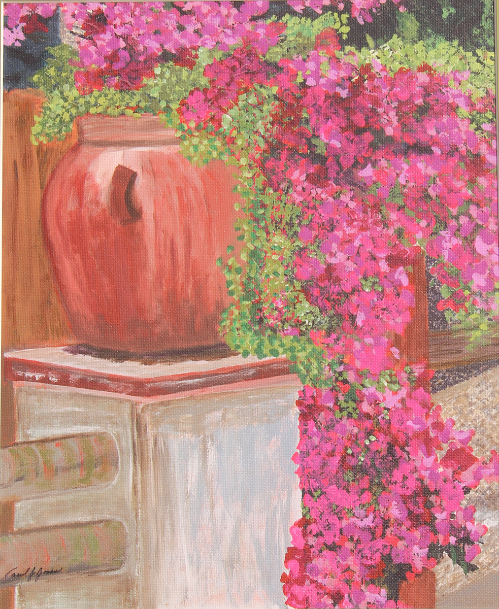 Bouganvilla Memories of Limagiclee on canvas16x20 framed
