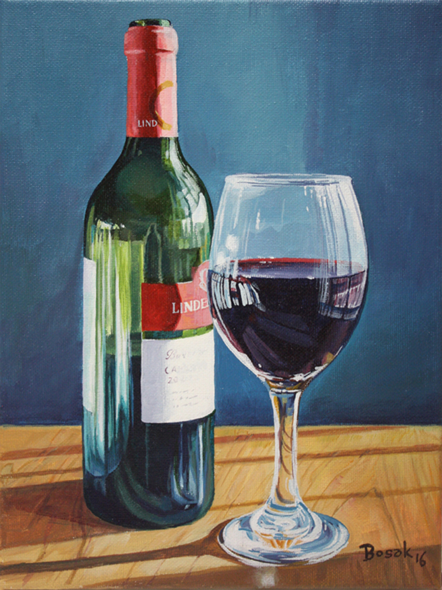 Glass of Cab_8 x 10_acrylic