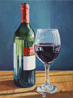 Glass of Cab_8 x 10_acrylic