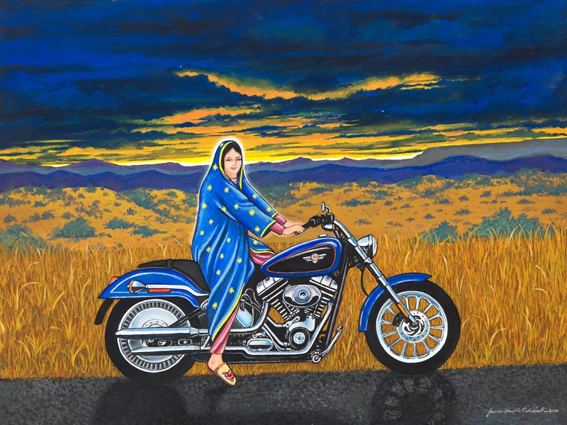 Mary on the Motorcycle