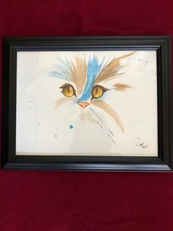 Yellow Eyes 9x12 Watercolor