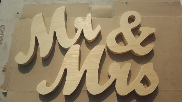 Custom made Wedding Signs