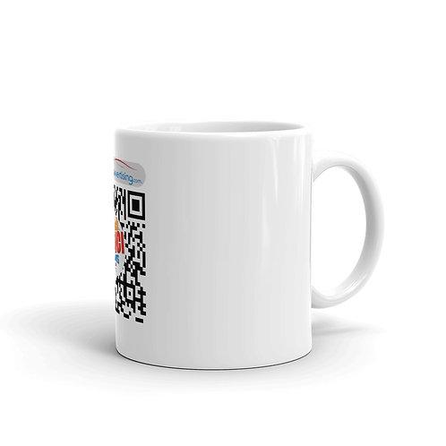 White glossy mug - HYPERCarvertising Click e Vinci