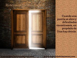 Cómo reconocer cuando Dios abre una puerta.