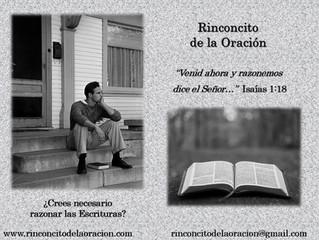 ¿Crees necesario razonar las Escrituras?