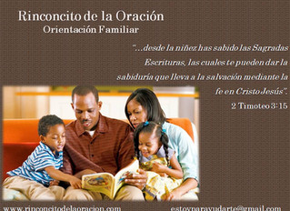 La Familia – Principal responsable por la educación cristiana de los hijos.