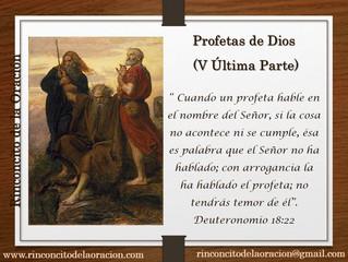 Profetas de Dios (V Última Parte)