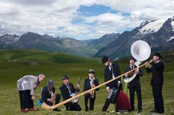 fanfare avec cor des alpes