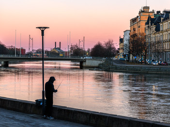 Angler in a Norrköping evening