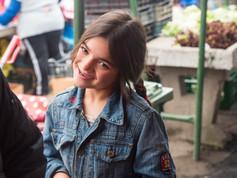 Girl at Saturday market in Gheorgheni