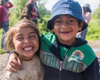 Romani children in Transylvania