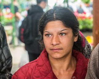 Romani woman in Transylvania