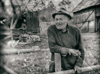 Farmer in Transylvania