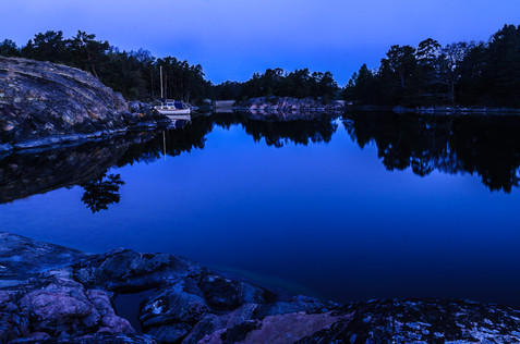 Blå timmen på Risö