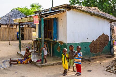 Beverage shop in the village of Mloka