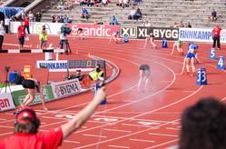 Starten på finalen i 400 m häck, 2012