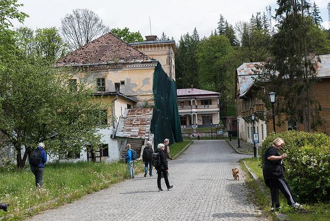 Borsec (Borszék), en halvt förfallen kurort