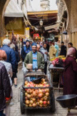 Fruktförsäljning i Fez