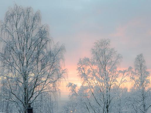 Decembersolnedgång