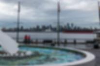 Vancouver skyline från North Vancouver
