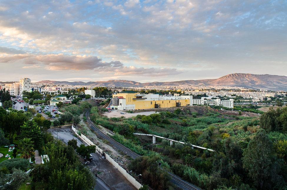 Från hotellet den sista kvällen i Fez