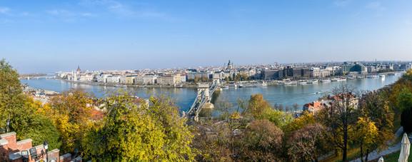 Utsikt från slottet i Budapest