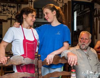 Inn family in Transylvania