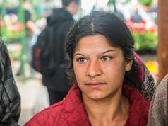 Romani woman at Saturday market in Gheorgheni
