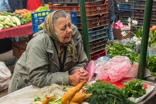 Market woman in Transylvania