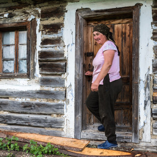 Farmer woman in Transylvania