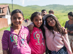 Young people in a romani village