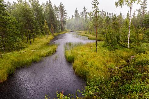 Utloppet från Stensjön