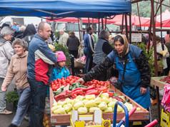 Saturday market in Gheorgheni