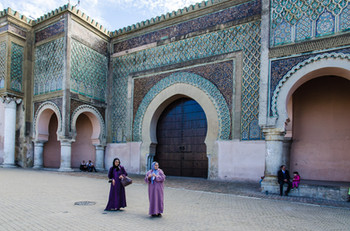 The gate of Bab Mansour in Meknes