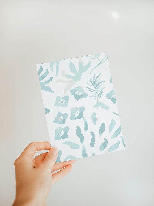 Underwater Garden Notecard in Blue