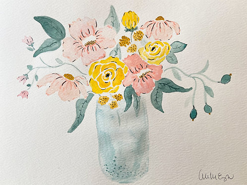 SOLD | the yellow rose spring bouquet