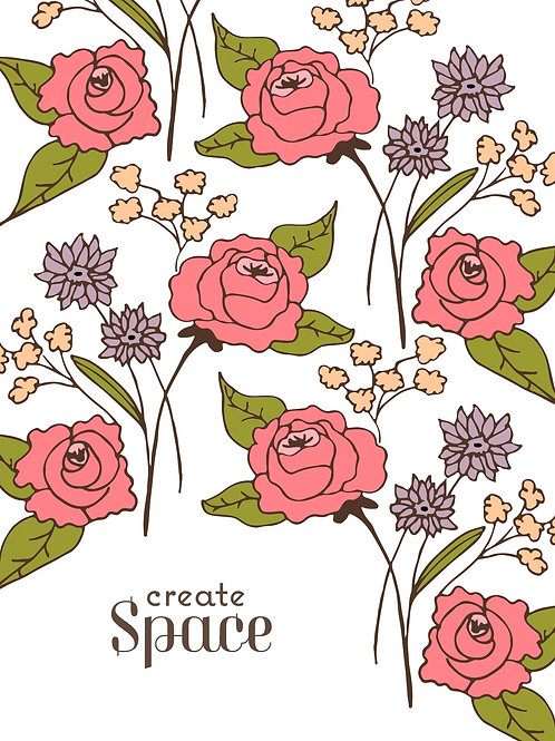 Create Space Digital Poster in Coral